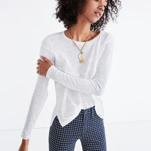 Madewell Whisper Cotton Crew Neck Long Sleeve Tee